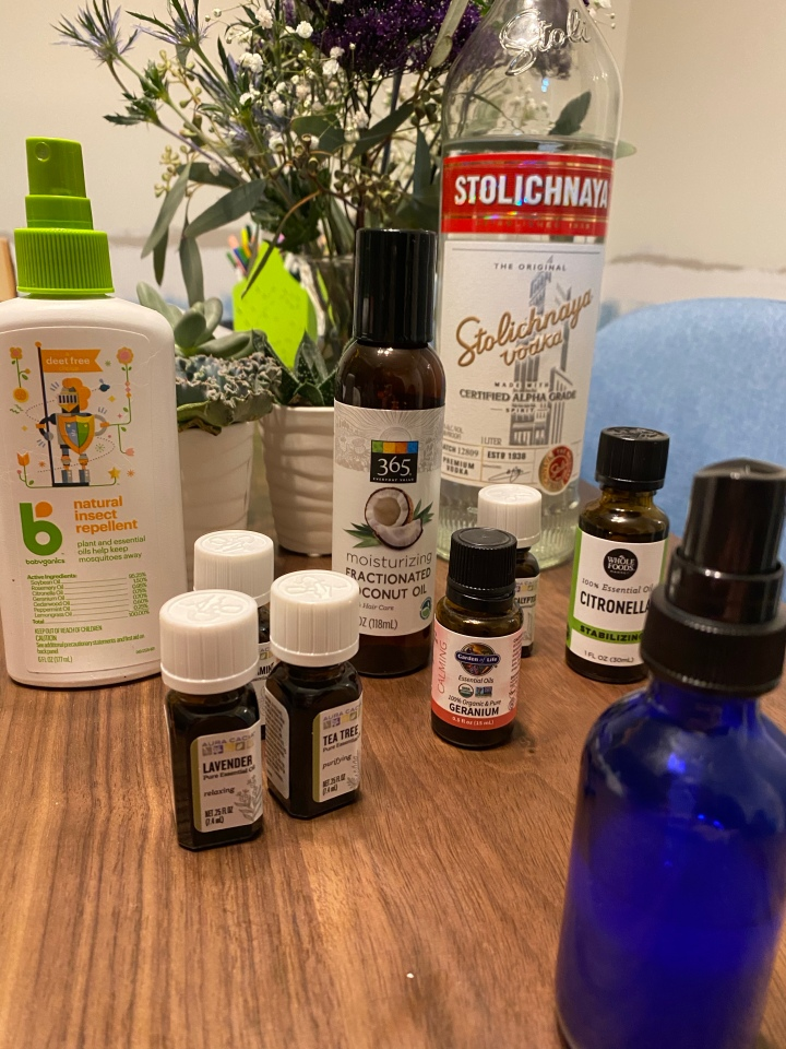 diy insect-repelling spray